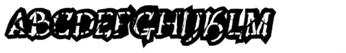 Lestatic Obsidian Outline Oblique Font UPPERCASE