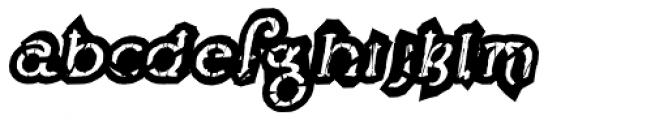 Lestatic Obsidian Outline Oblique Font LOWERCASE