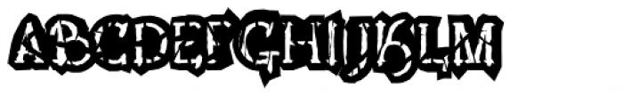 Lestatic Obsidian Outline Font UPPERCASE