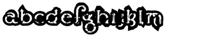 Lestatic Obsidian Outline Font LOWERCASE