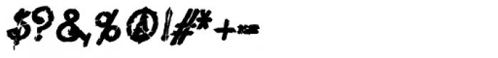 Lestatic Slashed Bold Oblique Font OTHER CHARS