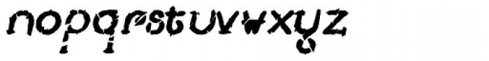 Lestatic Slashed Bold Oblique Font LOWERCASE