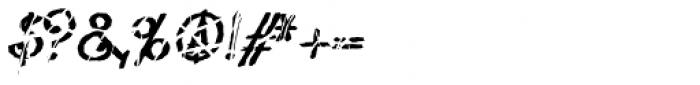 Lestatic Slashed Oblique Font OTHER CHARS