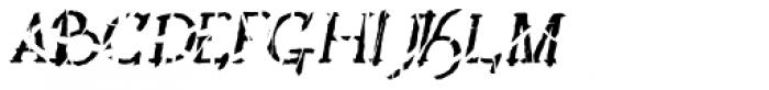 Lestatic Slashed Oblique Font UPPERCASE