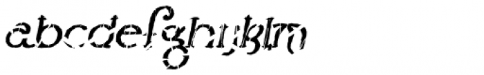 Lestatic Slashed Oblique Font LOWERCASE