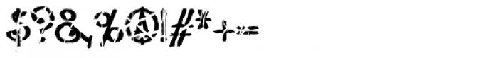 Lestatic Slashed Font OTHER CHARS