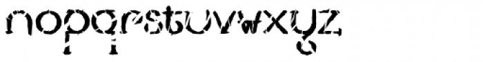 Lestatic Slashed Font LOWERCASE