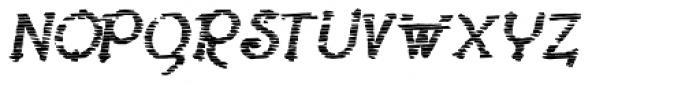 Lestatic Sliced Bold Oblique Font UPPERCASE