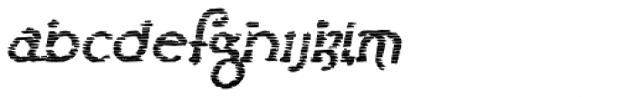 Lestatic Sliced Bold Oblique Font LOWERCASE