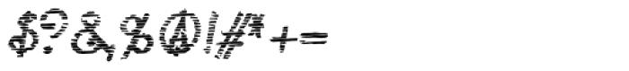 Lestatic Sliced Oblique Font OTHER CHARS