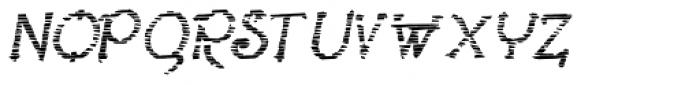 Lestatic Sliced Oblique Font UPPERCASE