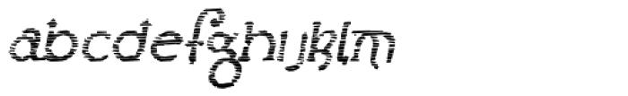 Lestatic Sliced Oblique Font LOWERCASE