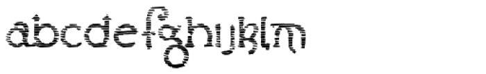 Lestatic Sliced Font LOWERCASE