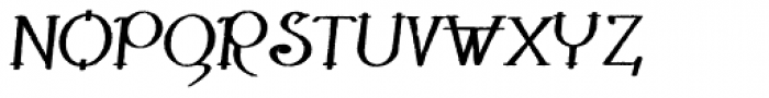 Lestatic Withered Bold Oblique Font UPPERCASE
