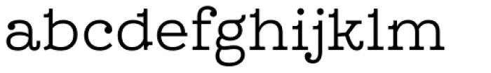 Leto Slab Light Font LOWERCASE