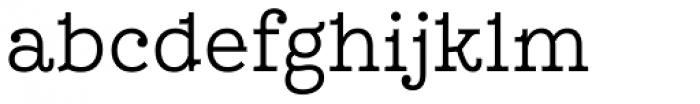 Leto Slab Narrow Light Font LOWERCASE