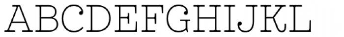 Leto Slab Narrow Thin Font UPPERCASE
