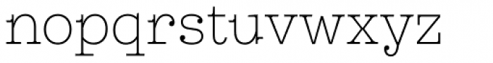 Leto Slab Narrow Thin Font LOWERCASE