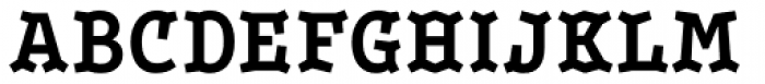 Leto Two Condensed Bold Font UPPERCASE