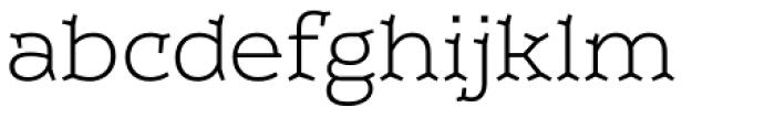 Leto Two Light Font LOWERCASE