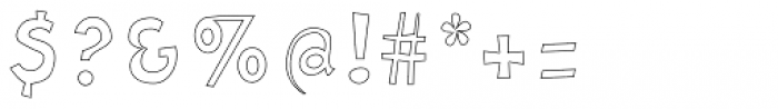 Letrinth Bold Outline Font OTHER CHARS
