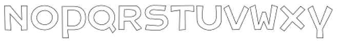 Letrinth Bold Outline Font LOWERCASE