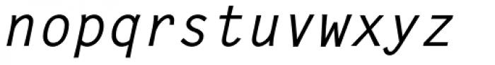 Letter Gothic L Medium Italic Font LOWERCASE
