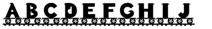 LetterTrain Bold Font LOWERCASE