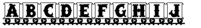 LetterTrain Font UPPERCASE