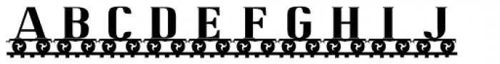 LetterTrain Font LOWERCASE