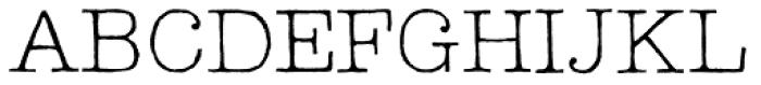 Lettera Thin Font UPPERCASE