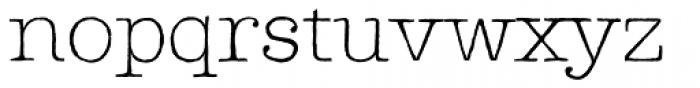 Lettera Thin Font LOWERCASE