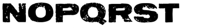 Letterpress Aurora Font UPPERCASE