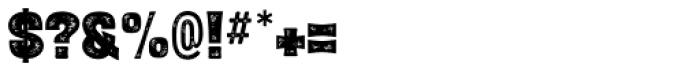 Letterpress Black Font OTHER CHARS