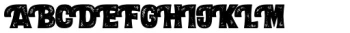 Letterpress Black Font UPPERCASE
