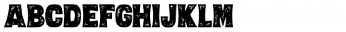 Letterpress Black Font LOWERCASE