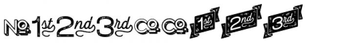 Letterpress Catchwords Font OTHER CHARS