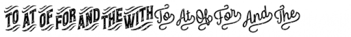 Letterpress Catchwords Font UPPERCASE