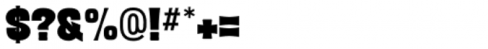 Letterpress Clean Black Font OTHER CHARS