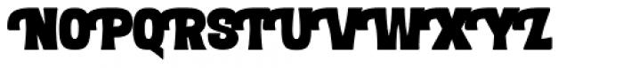 Letterpress Clean Black Font UPPERCASE