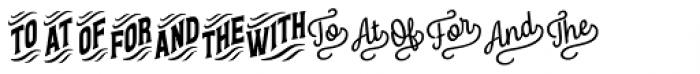 Letterpress Clean Catchwords Font UPPERCASE