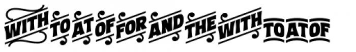 Letterpress Clean Catchwords Font LOWERCASE