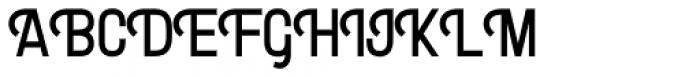 Letterpress Clean Gothic Font UPPERCASE