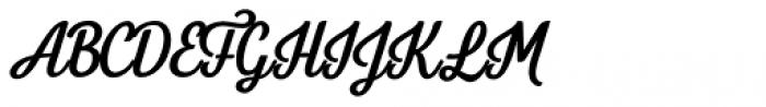 Letterpress Clean Script Bold Font UPPERCASE