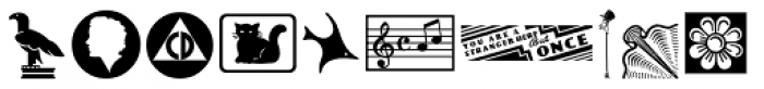 Letterpress Cuts JNL Font LOWERCASE