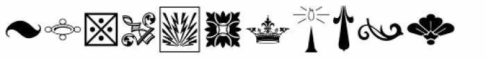 Letterpress Ornamentals JNL Font LOWERCASE