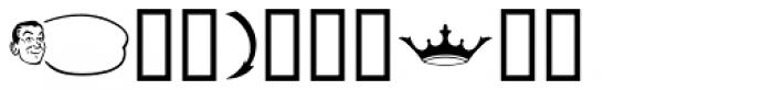 Letterpress Pieces JNL Font OTHER CHARS