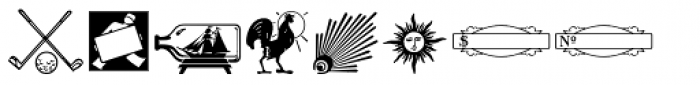 Letterpress Pieces JNL Font LOWERCASE