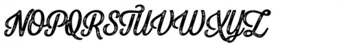 Letterpress Script Bold Font UPPERCASE
