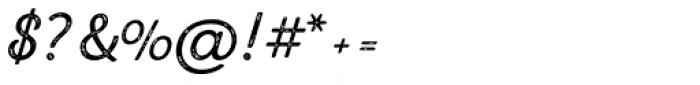 Letterpress Script Font OTHER CHARS